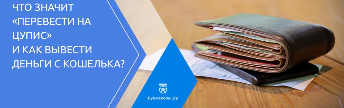 Что значит «перевести на ЦУПИС» и как вывести деньги с кошелька?